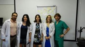 De izquierda a derecha: Diego Velasco, Ana Moreno, Emma González, Laura Barreales e Ignacio Hernández